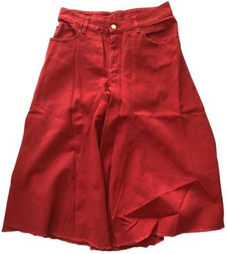 Maison Margiela Red Denim - Jeans Shorts