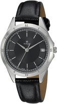 Titan Women's 'Neo' Quartz Metal and Leather Casual Watch, Color: (Model: 2556SL02)