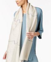 Eileen Fisher Organic Cotton-Silk Printed Scarf