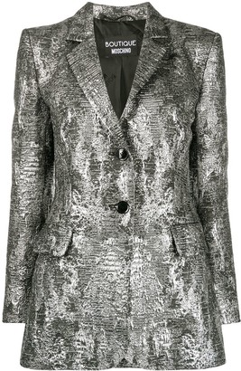 Boutique Moschino Metallic-Effect Blazer