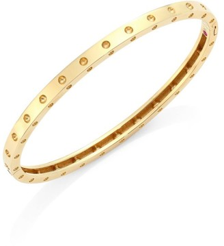 Roberto Coin Pois Moi 18K Yellow Gold Oval Bangle Bracelet