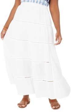 Style&Co. Style & Co Plus Size Cotton Tiered Maxi Skirt, Created for Macy's