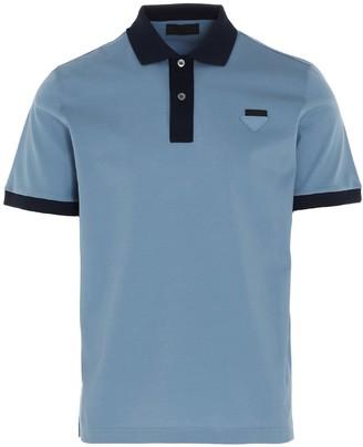 Prada Two-Tone Pique Polo Shirt