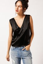 Anine Bing Sleeveless Silk V-Neck Top
