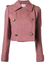 Lanvin cropped button-up jacket - women - Cotton/Polyester/Wool - 36