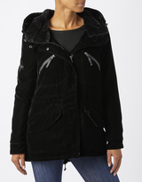 Monsoon Poppy Velvet Parka