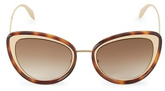 Alexander McQueen 54MM Mod Cat Eye Sunglasses