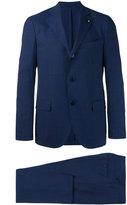 Lardini notched lapel suit - men - Cotton/Spandex/Elastane/Cupro/Wool - 52