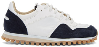 Spalwart White and Navy Marathon Trial Low WBHS Sneakers