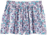 Joe Fresh Kid Girls' Floral Skort, Peacock Blue (Size XL)