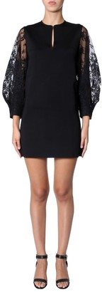 Givenchy Lace Sleeved Mini Dress