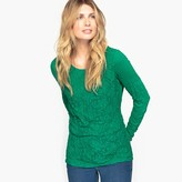 Anne Weyburn Lace and Crinkle Jersey T-Shirt