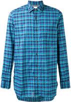 Paul Smith chest pocket checked shirt - men - Cotton - XL