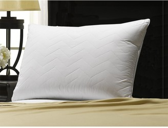 "Ella Jayne Home Soft Luxury Plush Quilted Chevron Gel Fiber Stomach Sleeper King Pillow - 20""x36"""