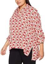 Ulla Popken Women's Oversized Bluse Blouse,0-3 Months