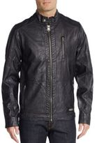 Buffalo David Bitton Coated Moto Jacket