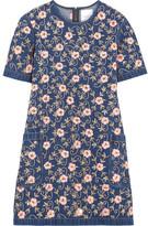 Ashish Embellished Embroidered Denim Mini Dress - Dark denim