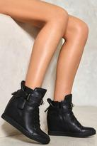 Nasty Gal nastygal Heavy Hitter Wedge High-Top Sneaker