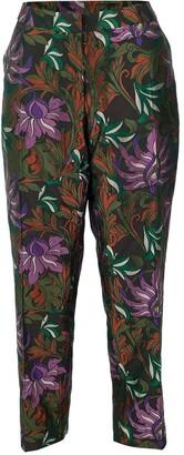 Dries Van Noten Poumas Flat Front Floral Trouser