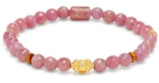 Musa By Bobbie - Diamond, Ruby, Toumaline & 18kt Gold Bracelet - Pink