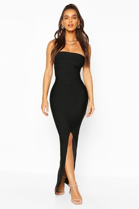 boohoo Premium Sculpting Bandage Bandeau Midaxi Dress