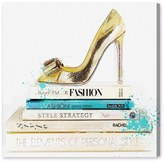 Oliver Gal 'Gold Shoe & Fashion Books' Canvas Wall Art