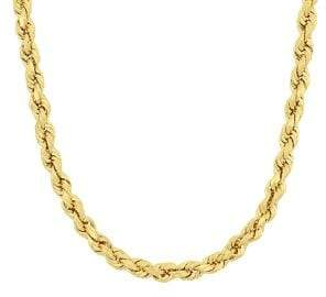 Sonatina 14K Yellow Gold Rope Chain Necklace