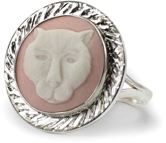 Vintouch Italy Pink Panther Cameo Ring