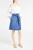 Paul & Joe Sister Cadillac Gathered Denim Skirt
