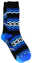 David Jones 2 Pack Gradient Zig Zag Crew Sock