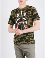 A Bathing Ape Camouflage Shark-print Cotton-jersey T-shirt