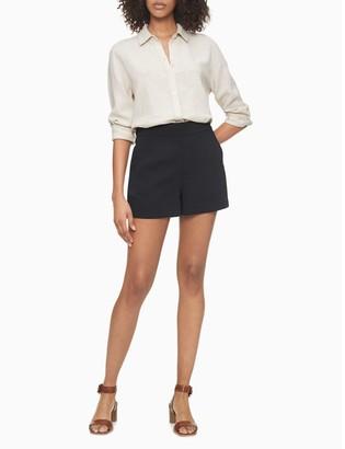 "Calvin Klein Solid Black Soft 4"" Shorts"