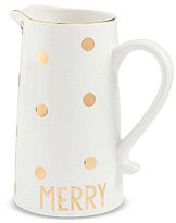 Mud Pie Holiday Merry Polka-Dot Pitcher
