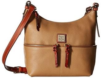 Dooney & Bourke Pebble Alyssa Crossbody (Desert/Tan Trim) Cross Body Handbags