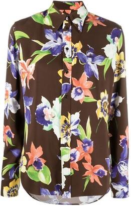 Ralph Lauren Purple Label Floral-Print Blouse