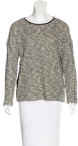 Yigal Azrouel Leather-Trimmed Oversize Sweater