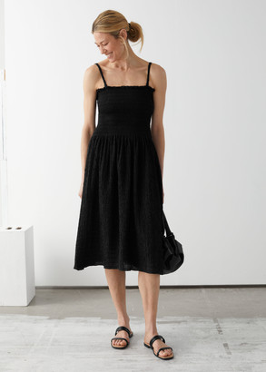 And other stories Smocked Midi Dress