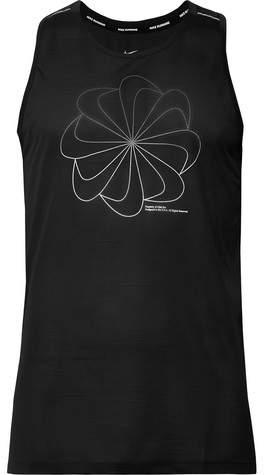 Nike Running Miler Printed Dri-Fit Mesh Tank Top
