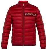 Moncler Neveu Logo-embroidered Quilted-down Jacket - Mens - Red