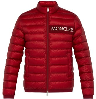 Moncler Neveu Logo Embroidered Quilted Down Jacket - Mens - Red