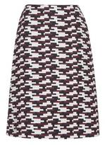Jil Sander Navy Wool Jacquard Skirt