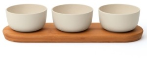 Berghoff Leo Collection 3 Piece Bowl Set with Bamboo Tray