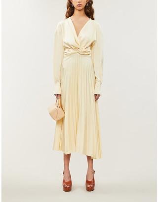 Magda Butrym Milano pleated silk-satin midi dress