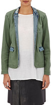 NSF Women's Blair Cotton Blazer-DARK GREEN