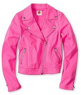 JCPenney Total Girl Pretty-in-Pink Moto Jacket - Girls 6-16