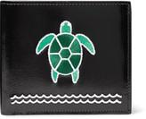 Thom Browne - Turtle-appliquéd Polished-leather Billfold Wallet