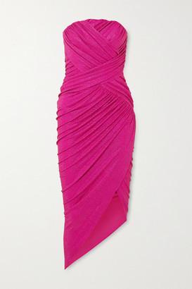 Alexandre Vauthier Strapless Crystal-embellished Stretch-jersey Midi Dress - Fuchsia