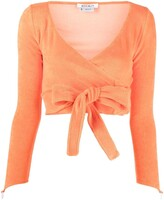 Thumbnail for your product : MAISIE WILEN Knitted Wrap Crop Top