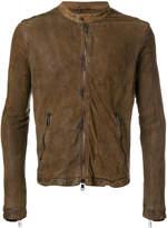 Giorgio Brato banded neck leather jacket