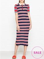 Tommy Hilfiger Erin Stripe Polo Midi Dress